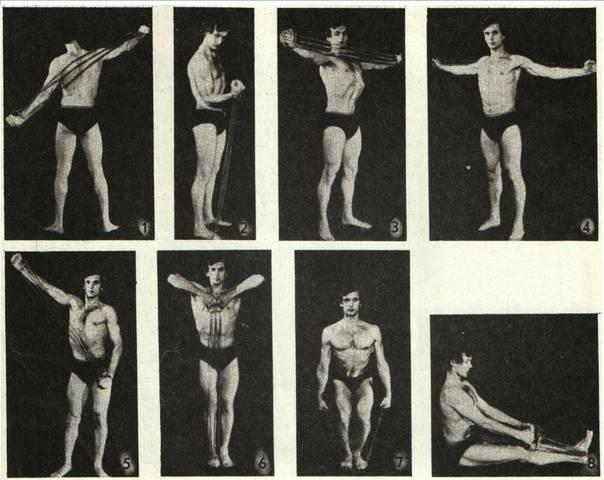 Упражнения с эспандером для мужчин: комплекс занятий с резиновым тренажером дома