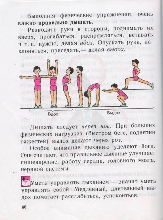 Правильное дыхание во время выполнения физических упражнений(методические рекомендации)