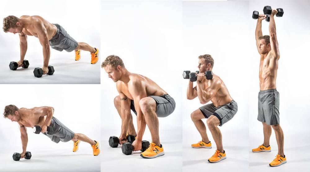Упражнения с гантелями для мужчины — самый эффективный комплекс тренировок смотрите здесь! (100 фото)