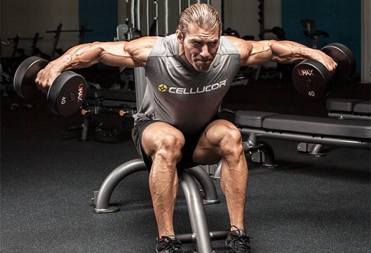 Упражнения наплечи сгантелями для мужчин— лучший комплекс