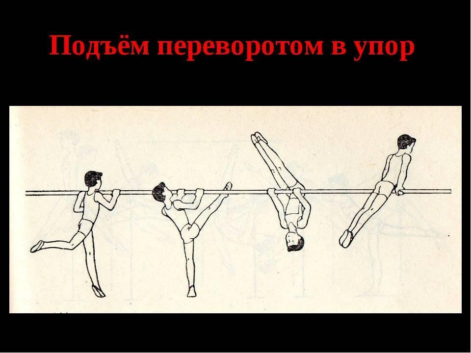 Подъем переворотом на перекладине: как научиться делать