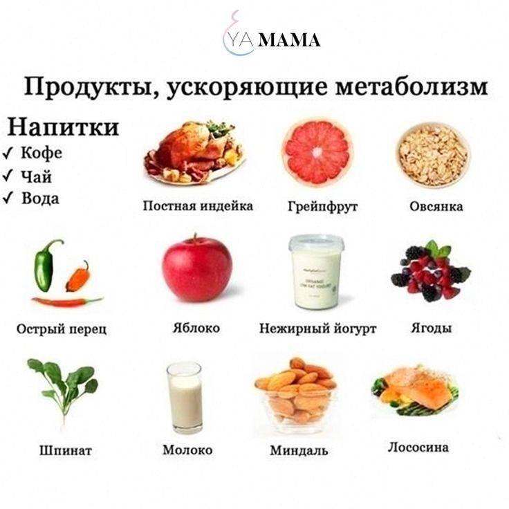 Диета для ускорения метаболизма