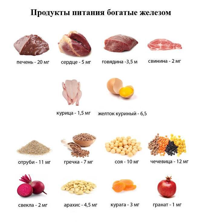 Железо без мяса: возможно ли это? продукты, богатые железом