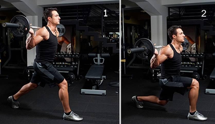 Как правильно делать выпады со штангой? – sportfito — сайт о спорте и здоровом образе жизни