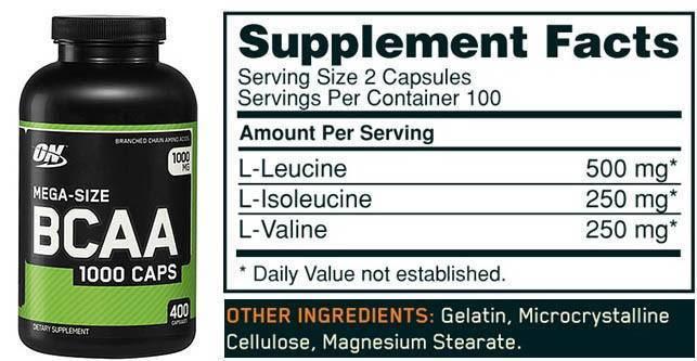Как принимать аминокислоты optimum nutrition bcaa в капсулах