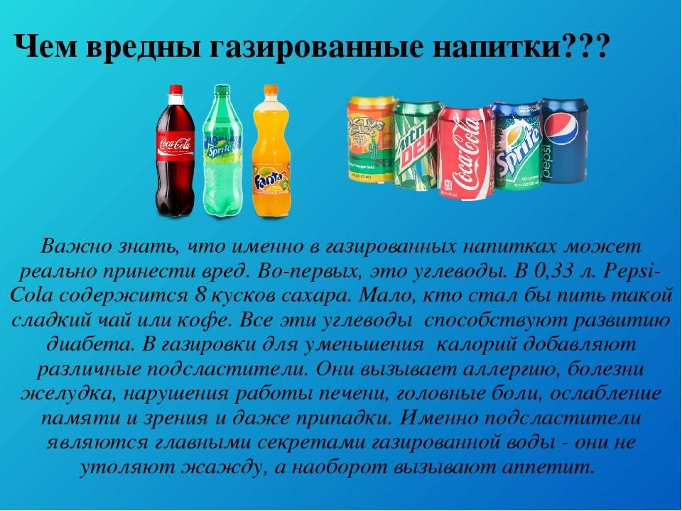 Влияние газированных напитков на организм человека | обучонок