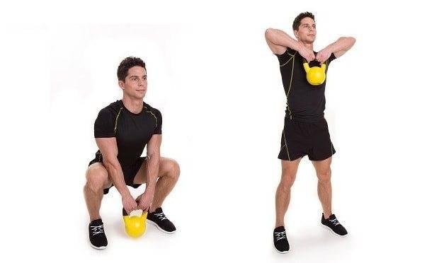 Гоблет приседания с гирей на груди: техника выполнения и польза