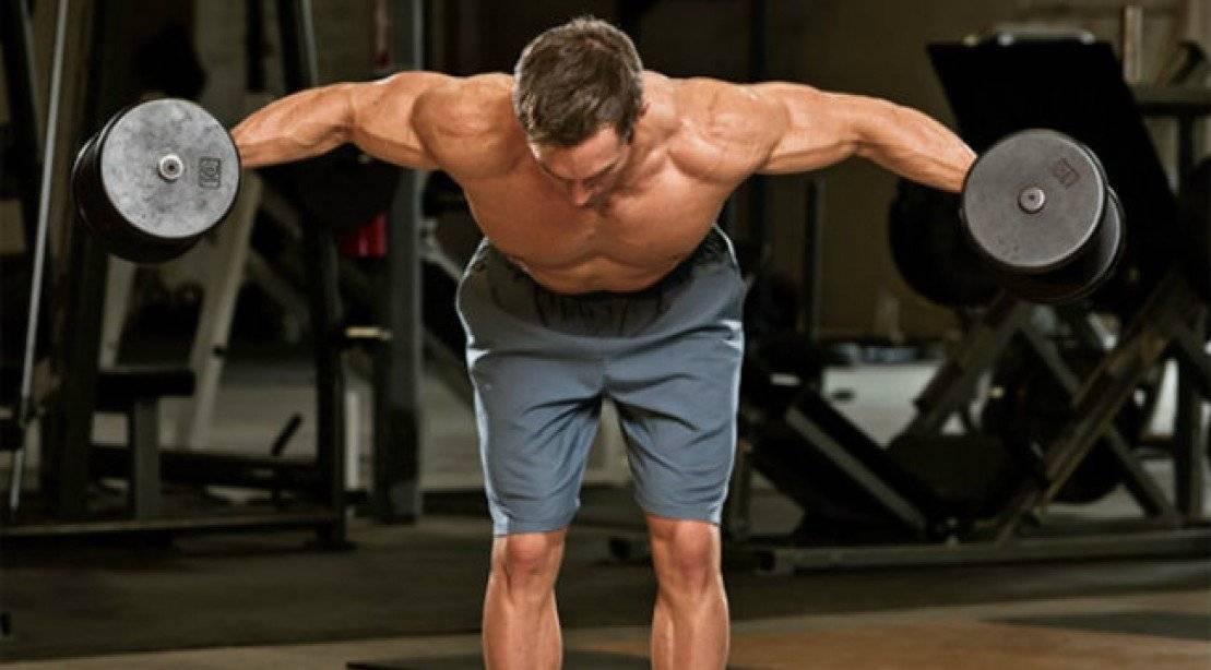 Разведение гантелей в наклоне – развиваем задние дельты: техника выполнения упражнения, частые ошибки и меры предосторожности, рекомендациипо проработке мышц спины и рук