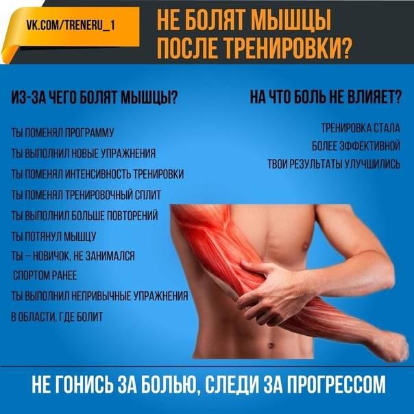 Болят мышцы после тренировки: почему, что делать и как снять боль