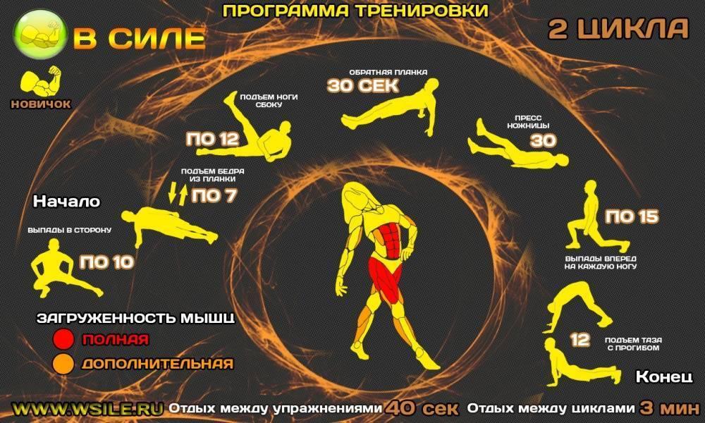 Кроссфит в домашних условиях для мужчин: упражнения и программы тренировок