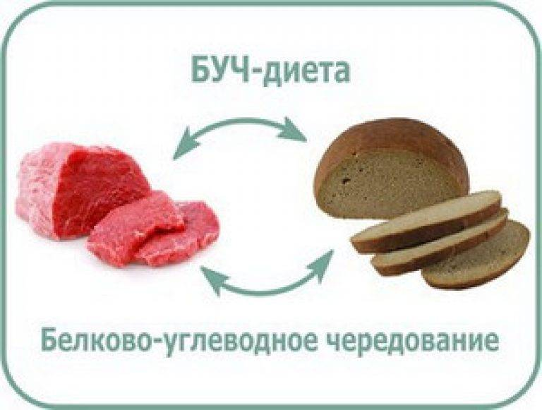 Меню диета белково углеводного чередования