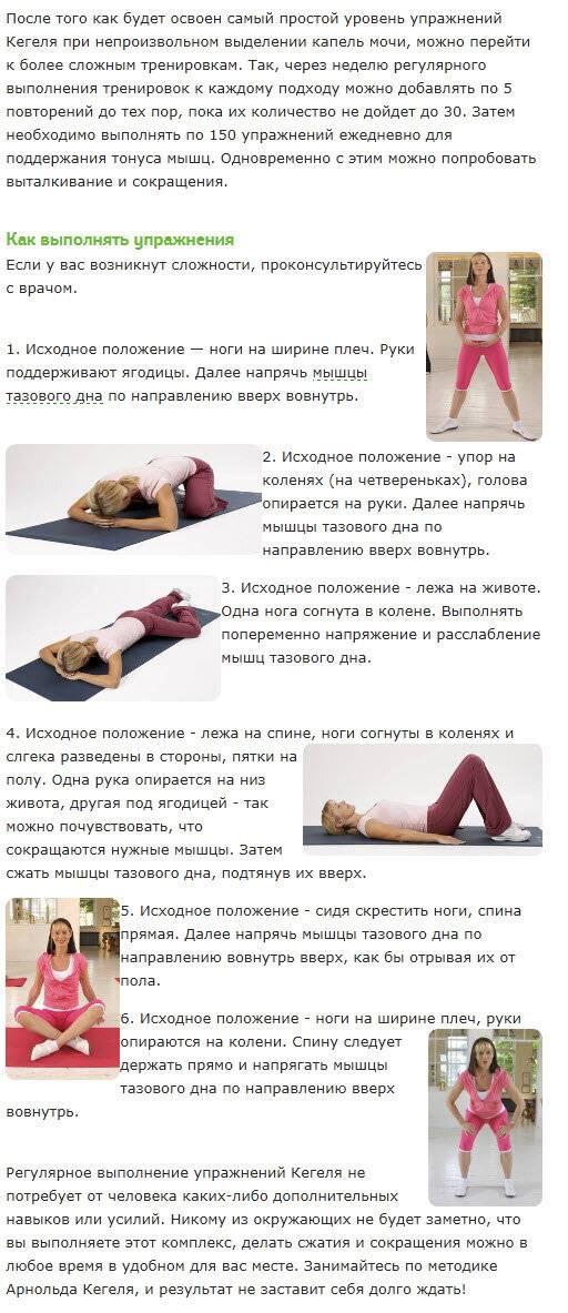Упражнения для укрепления мышц тазового дна у женщин (упражнения кегеля)