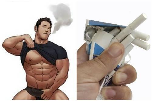Бодибилдинг и курение, как сигареты влияют на рост мышечной массы