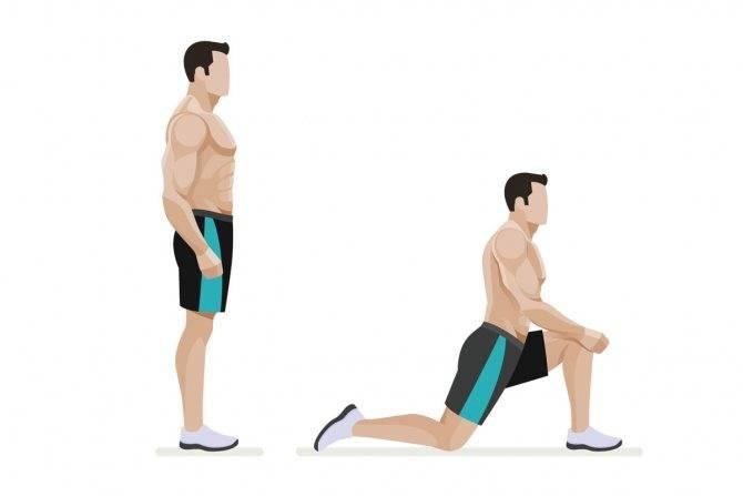 Выпады со штангой: техника выполнения, какие мышцы работают