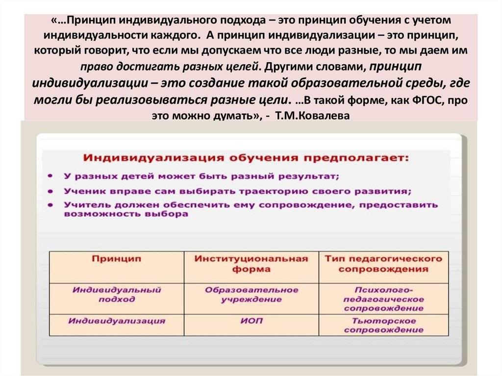 1.1 принцип индивидуализации в обучении иностранному языку