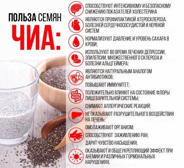 Семена чиа для похудения: как принимать, рецепты, диеты