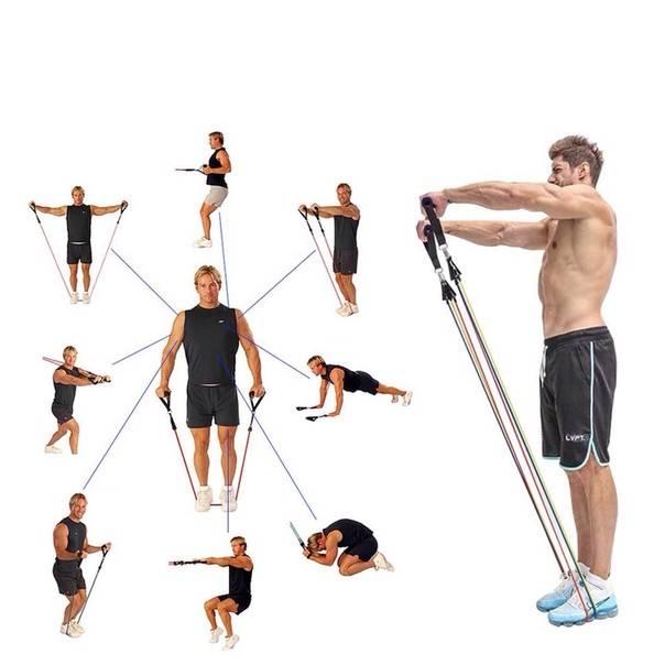 Резиновый эспандер: лучшие упражнения для всего тела