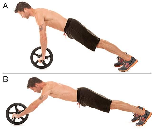 Упражнения с роликом для пресса