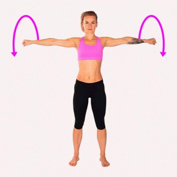 Как убрать жир с рук: действенные упражнения без гантелей для женщин