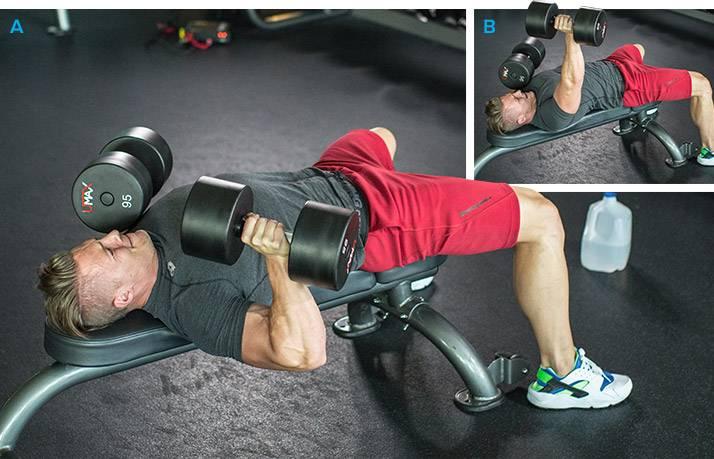 Базовые упражнения с гантелями на массу и рельеф