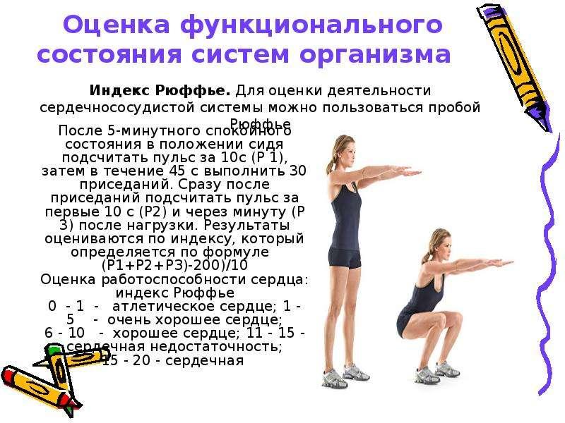 Простые тесты для самоконтроля физической подготовленности