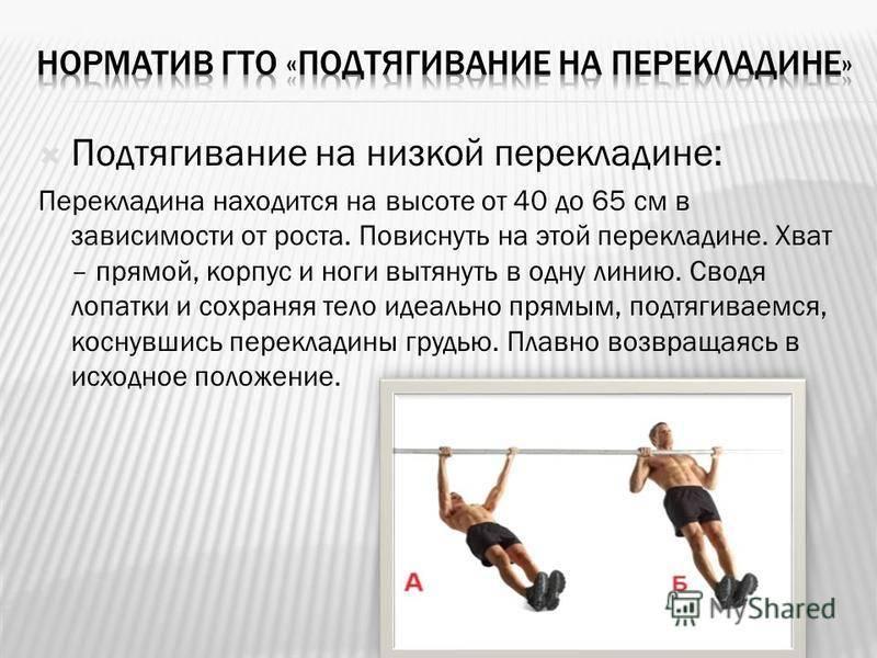 Горизонтальные подтягивания на низкой перекладине: техника упражнения