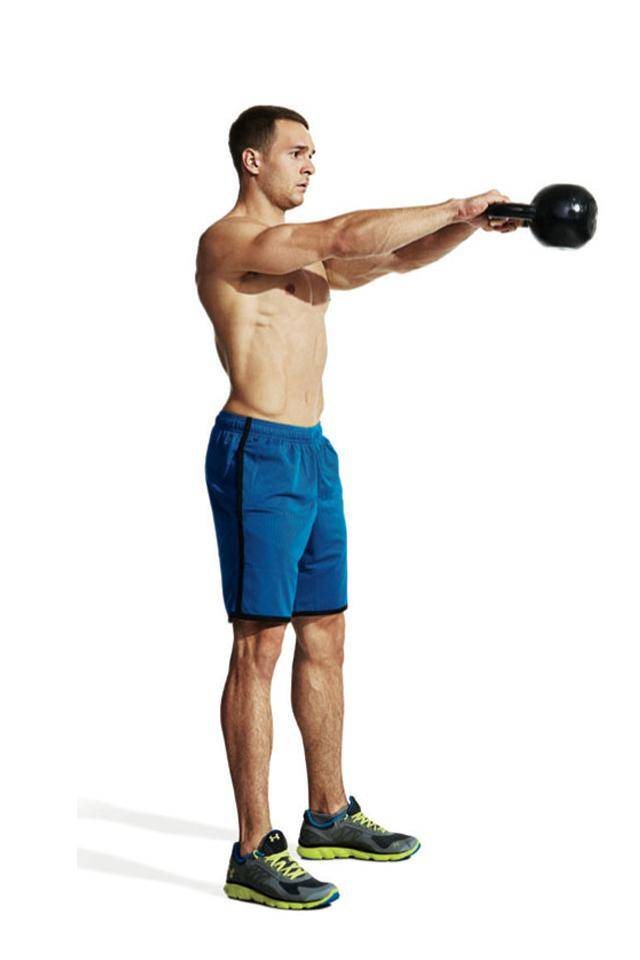 Махи гирей (kettlebell swing) - техника выполнения упражнения.