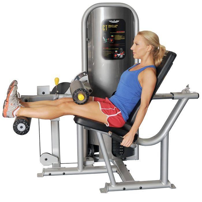 Разгибание ног в тренажере сидя: упражнение от а до я