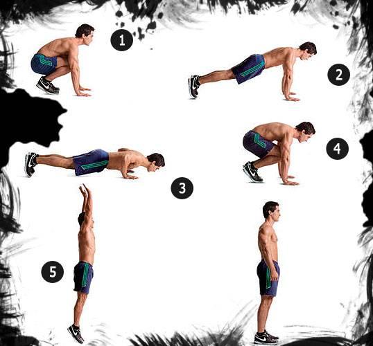 Упражнение бёрпи —пошаговая техника. в чем польза для мышц и организма?