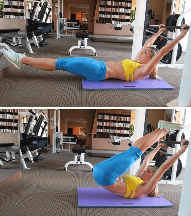 Упражнения на нижний пресс — как правильно качать низ живота