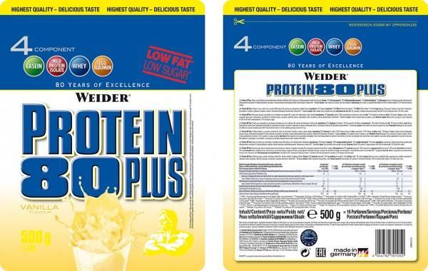 Protein 80 plus 500 гр - 1,1lb (weider)