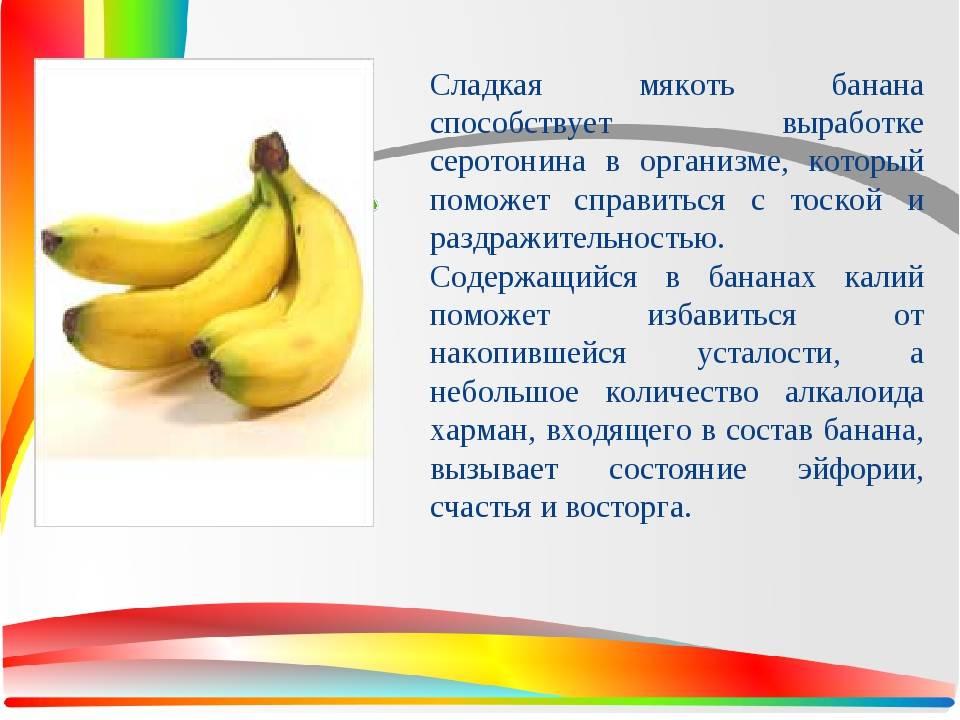 Бананы — химический состав, пищевая ценность, бжу