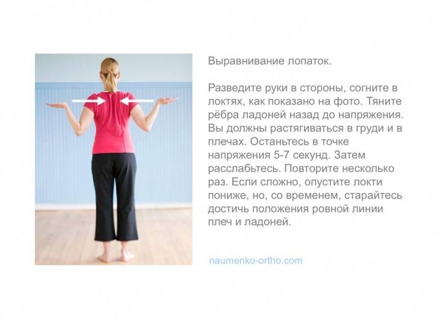 Упражнения для осанки дома ➤ как проверить и исправить осанку в домашних условиях