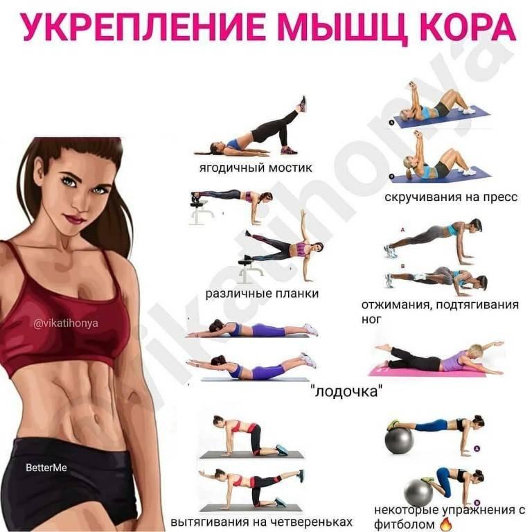 15 упражнений для кора мужчин и женщин| эффективные и безопасные