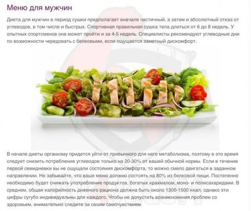 Питание при сушке тела для девушек: диета и меню для сушки тела для женщин на 2 недели