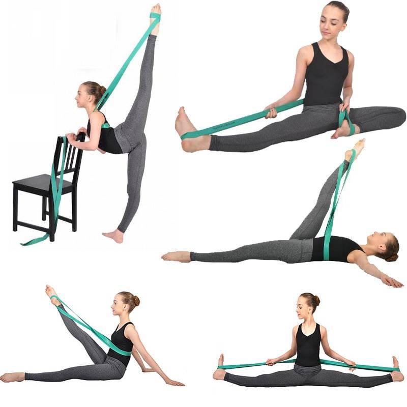 Резинка для растяжки: 10 упражнений для растягивания мышц и шпагата со жгутом