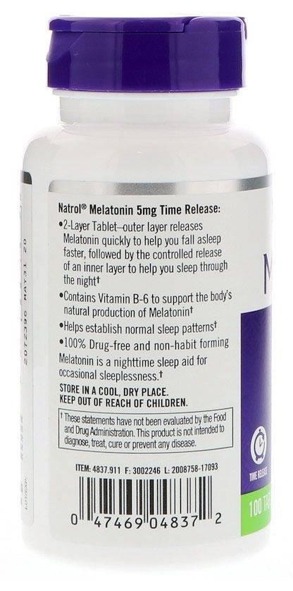 Мелатонин (снотворное) - применение, действие, показания и противопоказания
