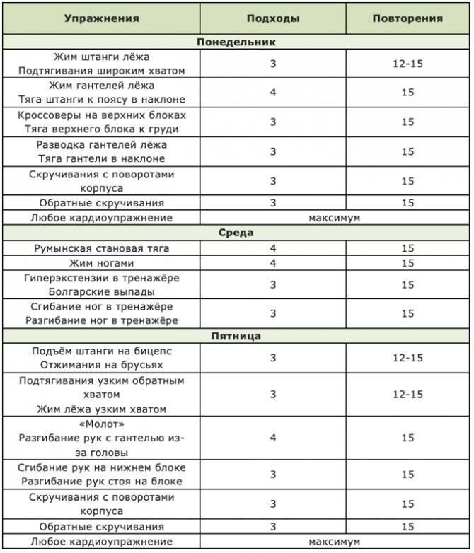Тренировка для похудения в зале: комплекс упражнений. программа тренировок для похудения - tony.ru
