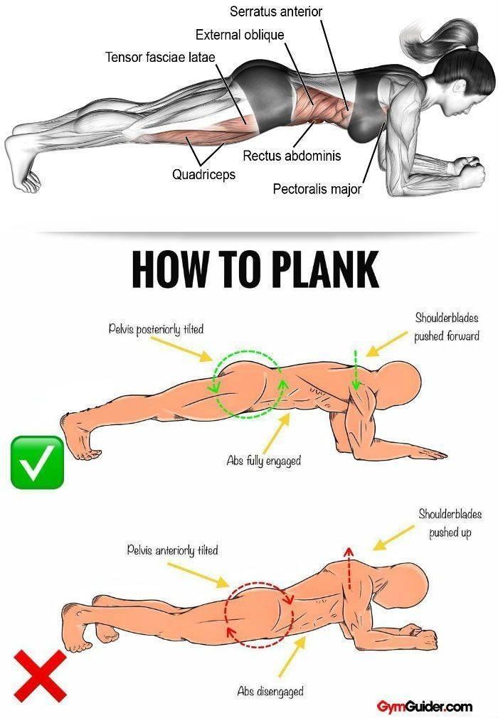 Как выполняется упражнение боковая планка?
