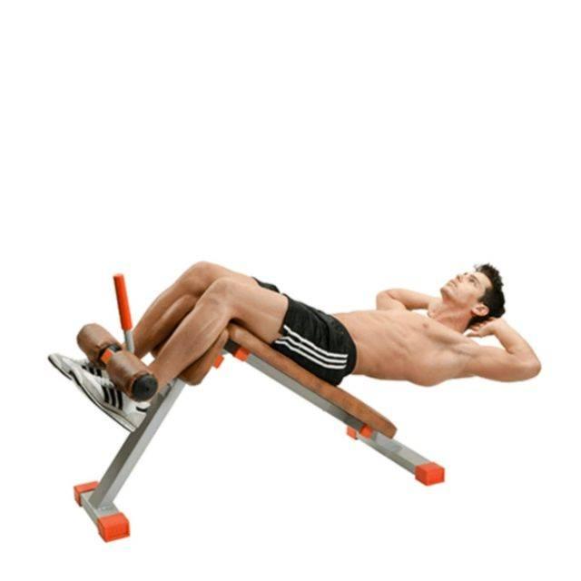 Скручивания на наклонной скамье: описание упражнения с фото, пошаговая инструкция выполнения и проработка мышц живота - tony.ru