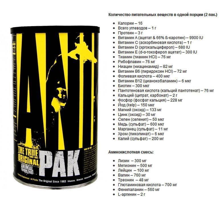 """Интенсивные тренировки с витаминами """"animal pak"""""""