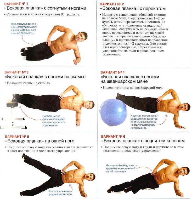Как правильно делать планку: инструкция и упражнения