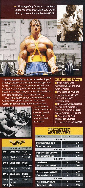Тренировки арнольда шварценеггера: советы для ног и плеч | бомба тело