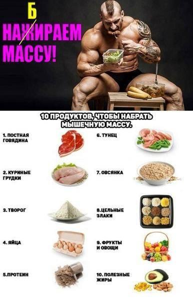Как набрать мышечную массу без вреда для организма