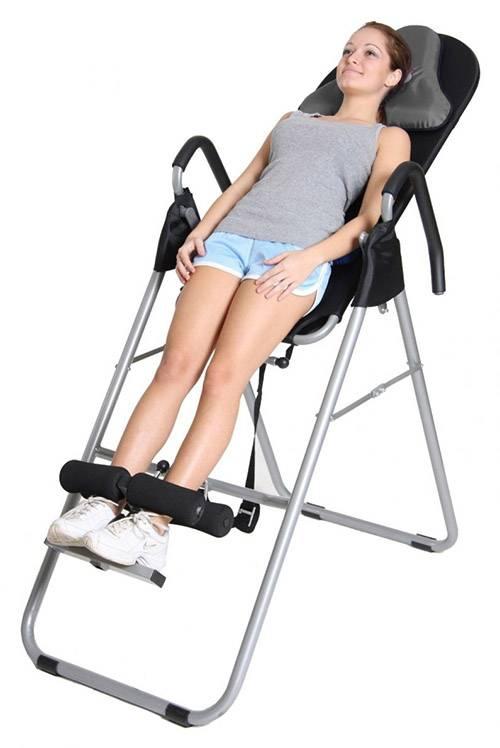 Инверсионный стол при грыже позвоночника: применение и противопоказания. тренажер для растяжки позвоночника