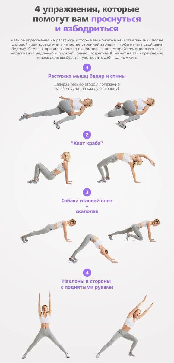 Эффективные упражнения утренней зарядки для похудения за 10 минут