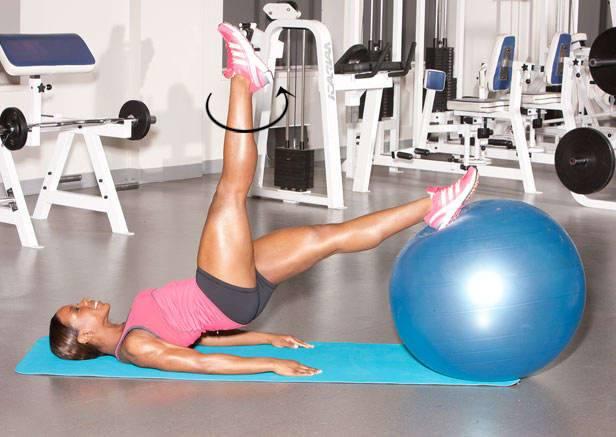 Топ-50 упражнений с фитболом для похудения и тонуса мышц