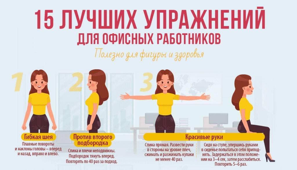Упражнения для работы: как делать офисную гиманастику