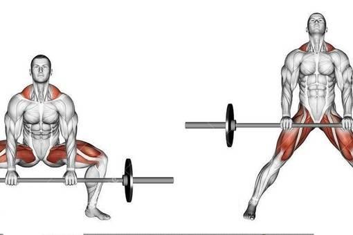 Тяга штанги за спиной с акцентом на задние дельты базовое упражнение