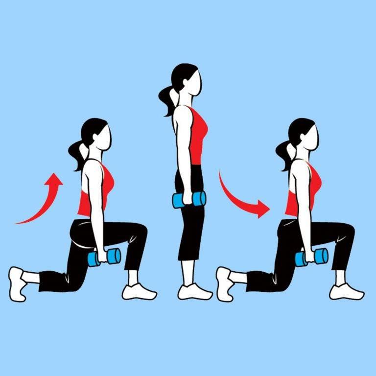 Выпады с гантелями – sportfito — сайт о спорте и здоровом образе жизни